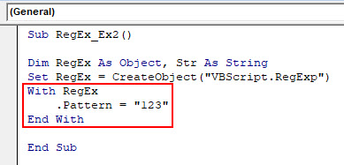 VBA RegEx Example 2-4
