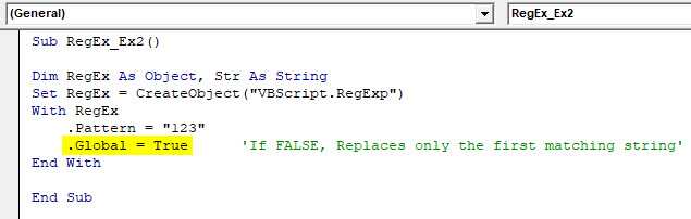 VBA RegEx Example 2-5