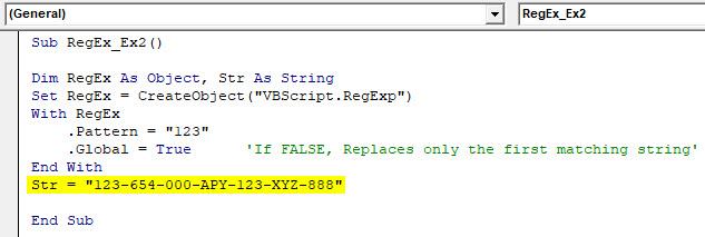 VBA RegEx Example 2-6