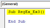VBA RegEx Example 3-1
