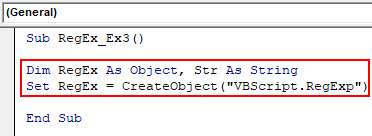 VBA RegEx Example 3-2