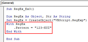 VBA RegEx Example 3-3