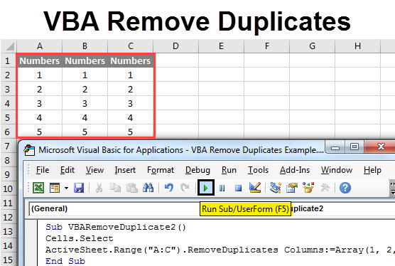 VBA Remove Duplicates | How to Use Excel VBA Remove with
