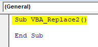 VBA Replace Example 1-3