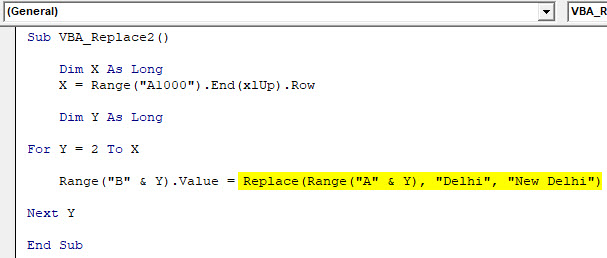 VBA Replace Example 1-9