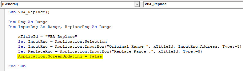 VBA Replace Example 2-8