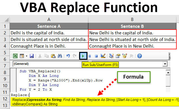 VBA Replace Function