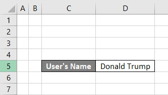 VBA Select Cell Example 1-1