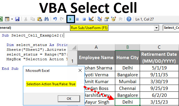 VBA Select Cell | How to Select Cells in Excel Using VBA Code?
