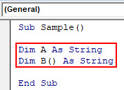 VBA Split Example 1-4