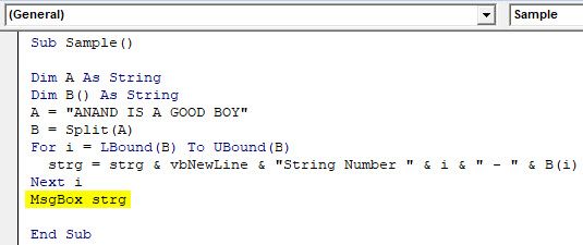 VBA Split Example 1-8
