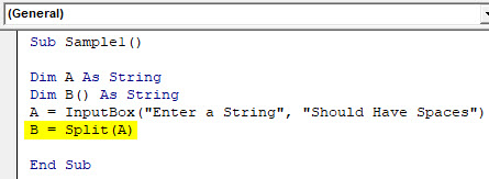 VBA Split Example 2-5