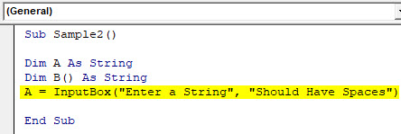 VBA Split Example 3-4