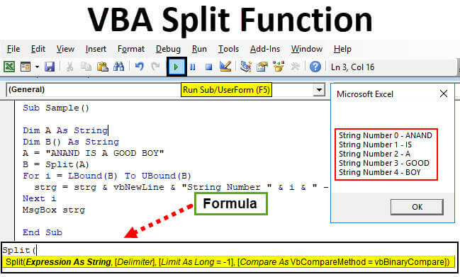 VBA Split Function | How to Use Excel VBA Split Function?