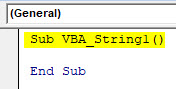 VBA String Example 1-2