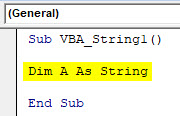 VBA String Example 1-3