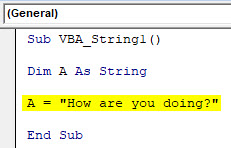 VBA String Example 1-4