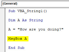 VBA String Example 1-5