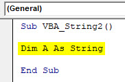 VBA String Example 2-2