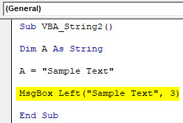 VBA String Example 2-4