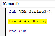 VBA String Example 3-2