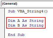 VBA String Example 4-2