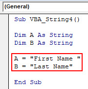 VBA String Example 4-3