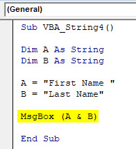 VBA String Example 4-4