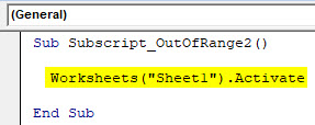 VBA Subscript out of Range Example 2-2