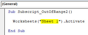VBA Subscript out of Range Example 2-3