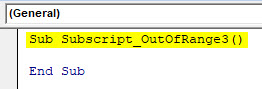 VBA Subscript out of Range Example 3-1
