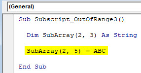 VBA Subscript out of Range Example 3-3