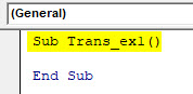 VBA Transpose Example 1-1