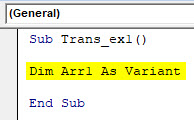 VBA Transpose Example 1-2