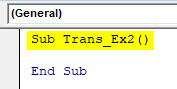 VBA Transpose Example 2-1