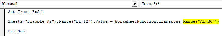 VBA Transpose Example 2-4
