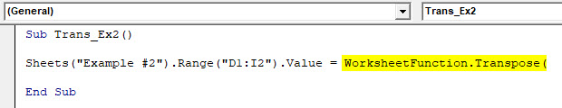 VBA Transpose Example 2-3