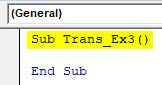 VBA Transpose Example 3-2