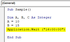 VBA Wait Example 1-6
