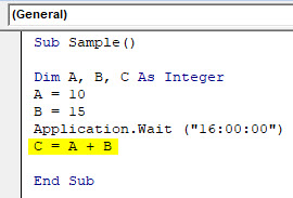 VBA Wait Example 1-7