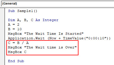 VBA Wait Example 2-6