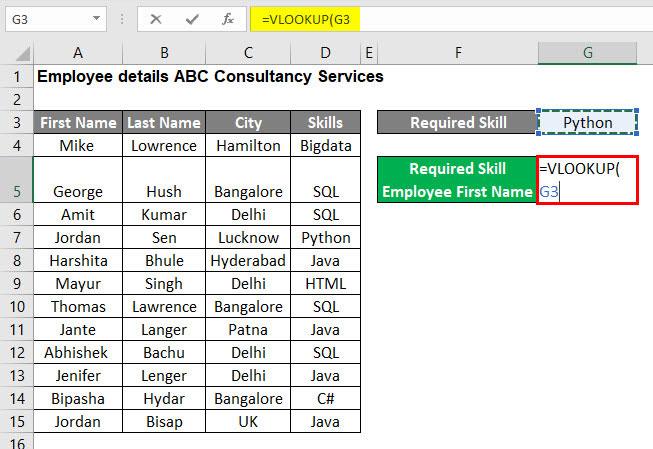 VLOOKUP Tutorial in Excel Example 1-2