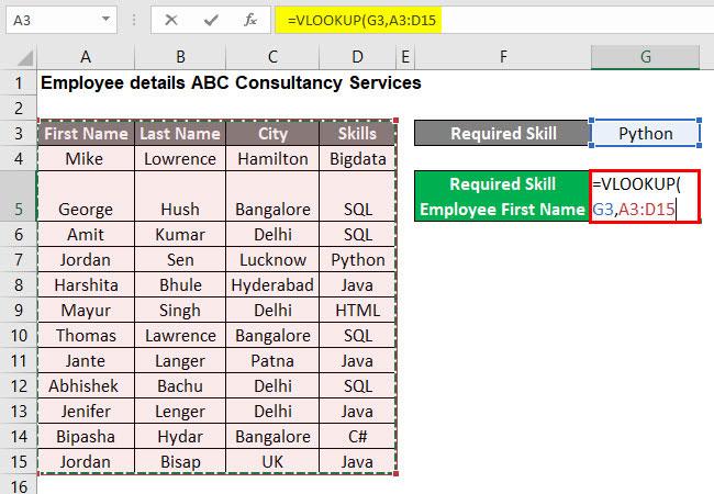 VLOOKUP Tutorial in Excel Example 1-3