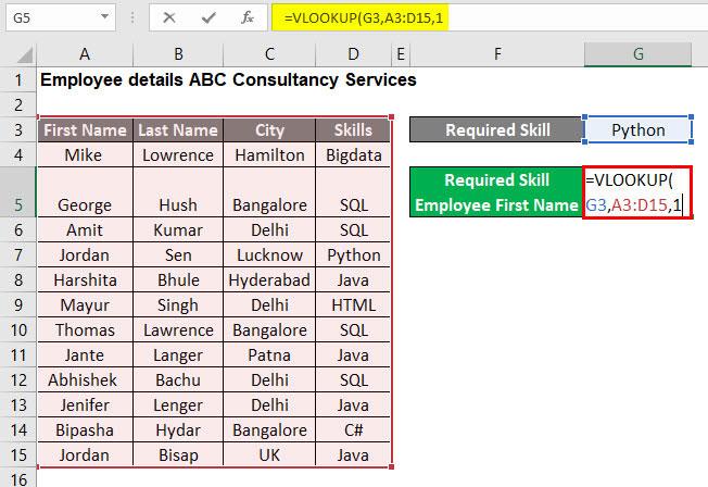 VLOOKUP Tutorial in Excel Example 1-4
