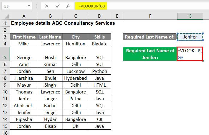 VLOOKUP Tutorial in Excel Example 2-2