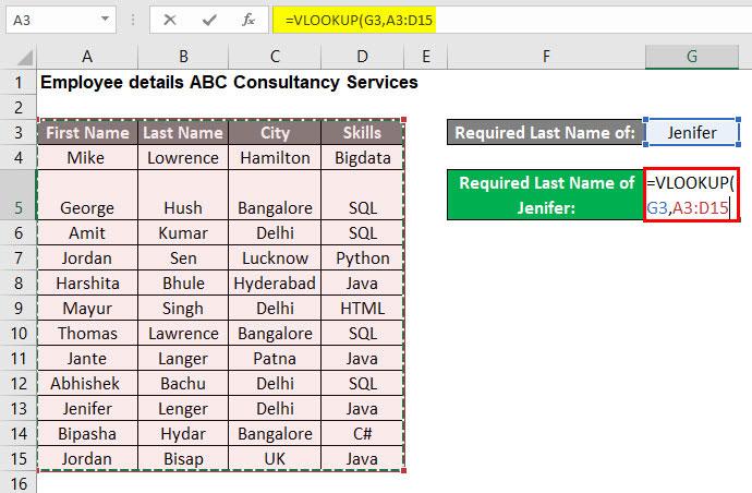 VLOOKUP Tutorial in Excel Example 2-3