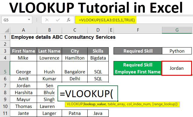VLOOKUP Tutorial in Excel