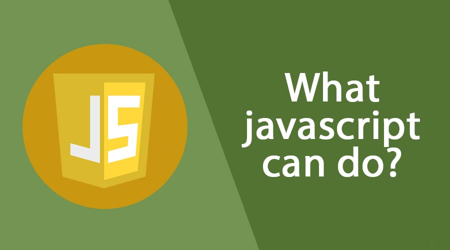 What javascript can do