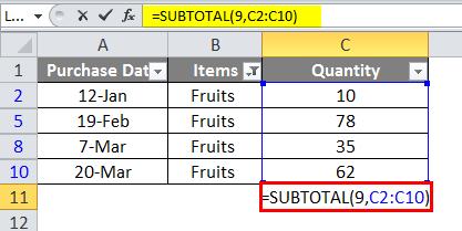 SUBTOTAL Example 6-6