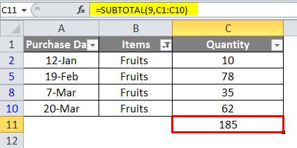 SUBTOTAL example 6-7